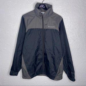 Men's Grey Columbia Windbreaker Coat Jacket